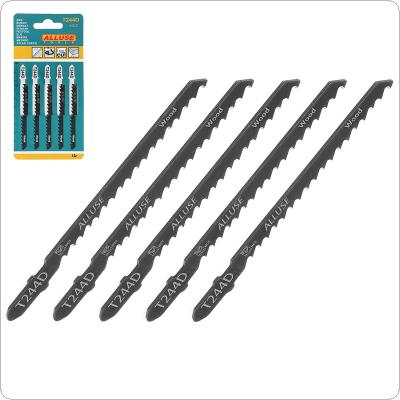5pcs/set T244D 100mm High-carbon Steel Reciprocating Saw Blades Straight Cutting Jig Saw for Woodworking / Plastic PVC