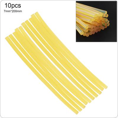 10pcs/set 7mmx200mm Transparent Yellow Strong Viscose Hot-melt Gun Glue Sticks Environmental Protection DIY Tools for Hot-melt Glue Gun Repair Accessories