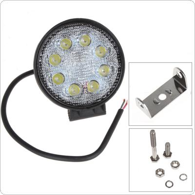 4 Inch 12V/24V 1600LM 24W Waterproof Circular LED Work Light for Motorcycle / Tractor / Boat / 4WD Offroad / SUV / ATV