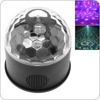 9W 9 Colors USB 5V LED Magic Ball Projector Stage Lights Strobe Club Effect Lights with Sound Control for Car / KTV / Party / Disco / Birthday