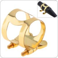 Alto Saxophone Mouthpiece Ligature Gold-plated Brass Ligature Fastener for Rubber Alto Saxophone