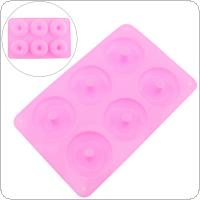 Six Grid Pink Round Silicone Chocolate Mould Aromatherapy Handmade Soap Mold Aroma Diffuser For Bake DIY