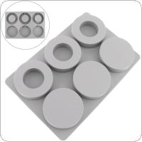 Six Circle Round and Ring Silicone Cake Mold Aromatherapy Plaster Handmade Soap Mold Aromatherapy Mold for Baking DIY