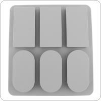 Six Grid Rectangular and Oval Silicone Cake Mold Aromatherapy Plaster Handmade Soap Mold Aromatherapy Mold for Baking DIY