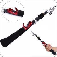 Mini Portable 1.6m Ultralight Carbon Telescopic Ice Fishing Rods Travel Sea Rock Casting Rods