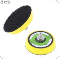2pcs 2 Inch 12000RPM Double-acting Pneumati Orbital Sanding Pad with Hairy Surface for Pneumatic Sanders / Air Polishers