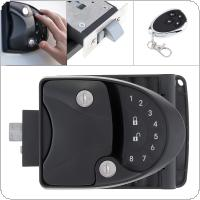 3 In 1 RV Lock Keyless Handle Password Integrated Keypad Remote Lock & Key Lock Fob Trailer Hitch Password Lock