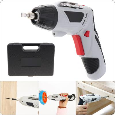 48pcs/set 4.8V Mini 220rpm 110 / 220V Rechargeable Electric Screwdriver with 90-180 Degrees Rotating Head and LED Light for Household DIY Tool