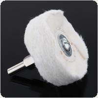 2 Inch T-shaped White Cloth Polishing Wheel Mirror Polishing Buffer Cotton Pad with 6mm Shank Diameter for Surface Polishing / Grinding