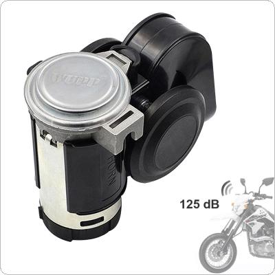 12V 139dB Car lacquer Gold Snail Compact Dual Air Horn for Car Vehicle Motorcycle Yacht Boat SUV
