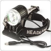 1500Lm 3 x LB-XL T6 LED 4 Mode Headlamp & Bicycle Light with 4400mAh Battery Pack