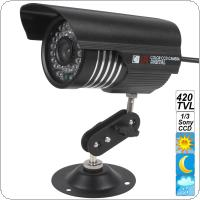 "Waterproof Colorful IR 420 TVL Camera with 1/3"" CCD Support 30m View Distance"
