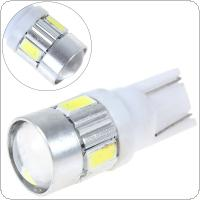12V 250LM T10 168 W5W High Power LED Projector White Car Light with 6 x 5730 SMD LEDs