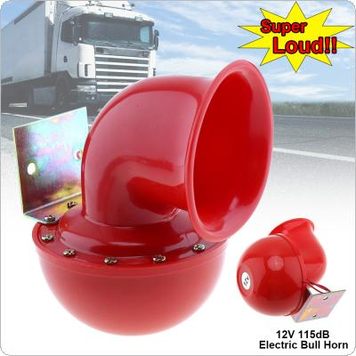 12V 115dB  Red  Electric Raging Bull Air Horn for Car / Truck / Motorcycle