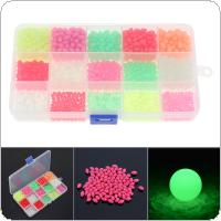 1500pcs Colorful Oval Hard Luminous Fishing Beads 3 x 4mm 4 x 6mm 5 x 8mm 3 Sizes Mixed Sea Fishing Lure Floating Float with Box