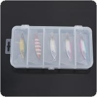 5pcs 20g Slow Shake Metal Jigging Fishing Spoon Iron Plate Long Shot 5 Color Laser Luminous Lead Baits with Box