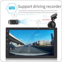 7 Inch QUAD Core Android 7.0 2Din Bluetooth Car Radio Stereo MP5 Player 1024x600 Digital Touch Screen GPS Navigation Support Mirror Link