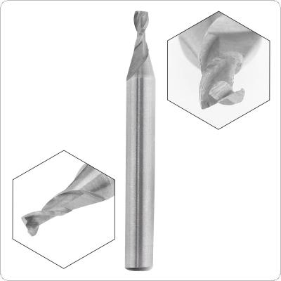 3mm 2 Flute HSS End Mill Cutter with Super Hard Straight Shank for CNC Mold Processing