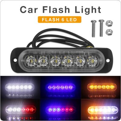 12V / 24V 18W 6 LED  Waterproof Car Truck Emergency Beacon Warning Hazard Flash Strobe Light Bar
