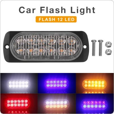 12V / 24V  36W Waterproof 12 LED Waterproof Car Truck Emergency Beacon Warning Hazard Flash Strobe Light Bar
