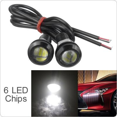 2pcs 12V 18mm 15W 6 LED Eagle Eye Car Fog DRL Daytime Reversing Backup Parking Signal Light