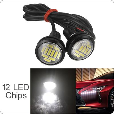 2pcs 12V 15W 22mm 12 LED Eagle Eye Car Fog DRL Daytime Reversing Backup Parking Signal Light