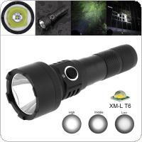 TC15 10W Super Bright XMK T6 LED 1100 Lumens Aluminum Alloy Waterproof Flashlight with 5 Modes Lights Support 18650 Rechargeable Battery for Camping