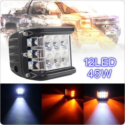 4 Inch 10V-30V 45W White + Yellow Waterproof LED Work Light with Multiple Lighting Mode for Off-road Car / Pickup / Wagon