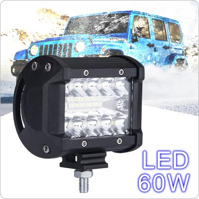 4 Inch 60W 6000K White Waterproof Three Rows LED Light Bars for Truck/Motorcycle/SUV/ATV/ Car/Boat