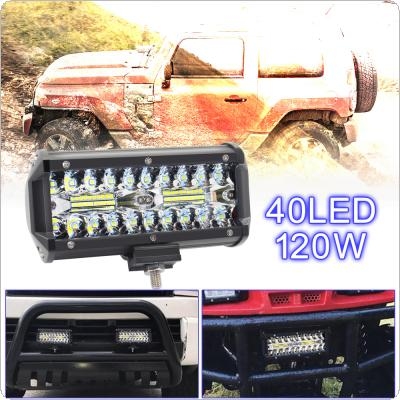 7 Inch 120W 16000LM 6000K White Waterproof  Three Rows Light LED Bars for Truck/Motorcycle/SUV/ATV/ Car/Boat