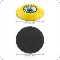 3 Inch Professional 15000RPM Double-acting Random Orbital Sanding Pad with Hairy Surface for Polishing and Sanding