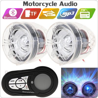 2pcs 30W Motorcycle Waterproof Anti-theft Bluetooth MP3 Speaker Support AUX-IN Audio Input and USB / TF for Motorcycle and Scooter