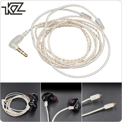 KZ Silver Plated 100 Cable Core Headset Wire with 0.75MM Standard Gold-Plated Pins for ZS3 / ZS4 / ZS5 / ZS6