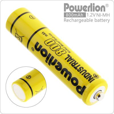Powerlion 1.2V AAA 800mAh Ni-Mh LSD Rechargeable Battery with 0.5A Charging Current for Toys / Wireless Mouse / Game Handle / Wireless Microphone