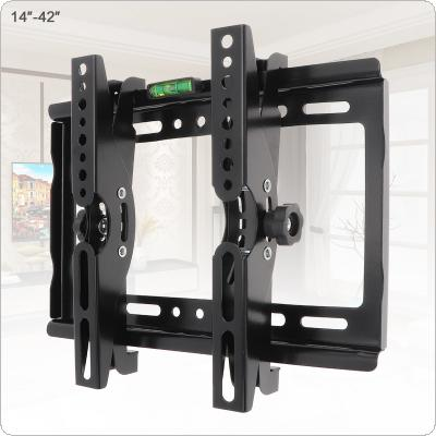 Universal 25KG Adjustable TV Wall Mount Bracket Flat Panel TV Frame Support 15 Degrees Tilt Angle  with Level Standard  for 14-42 Inch LCD LED Monitor Flat Pan