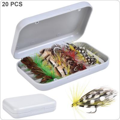 20pcs/lot Fly Fishing Lure Hooks 4 Colors Simulation Fly Flies Butterfly Bait
