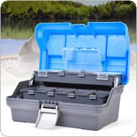 32cmX19cmX14.5cm 3 Layers Fishing Tackle Box Lures Hooks Lead Safety Clips Anti-tangle Europe Reservoir Fishing Accessories Storage Box