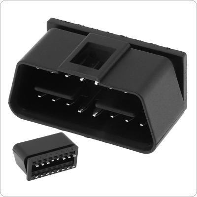 OBD-II 24V Square Hole 16Pin Male Extension Opening Cable Car Diagnostic Interface Connector PLug