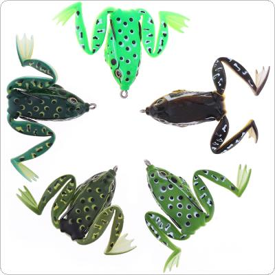5pcs/lot Soft Frog Lure Snakehead Bait with Web-footed 5 Colors Mixed Topwater Simulation Fishing Lure with Box