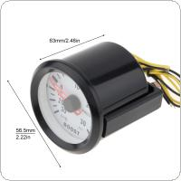 "6032BL  2"" 52mm 12V Blue LED  0~30in.Hg / 0~30PSI Turbo Boost  Gauge Meter with Sensor for Car / Boat / Truck / ATV"