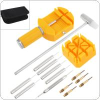 16pcs/set Multi-function Precision Combination Watch Opening Watch Band Remover Tool with Storage Canvas Bag for Watch Repair