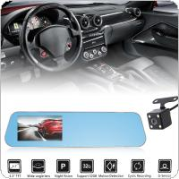 4.3Inch Dual Lens Full HD 1080P 170° Wide Angle Car DVR Camera Recorder Dash Cam