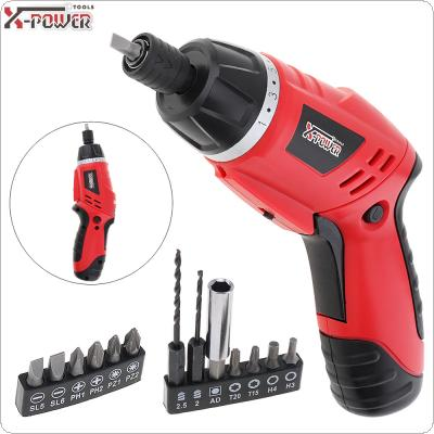 Mini 100~240V Cordless 4.8V Folded Handle Rechargeable Electric Screwdriver with LED Lighting and Two-way Rotating Head for Home Office