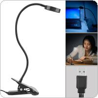 20 LED Clip Portable Desk Light Full Touch Control Stepless Dimming 360° Adjustment with Eye Protection and Energy-Efficient for Reading Bedroom / Office
