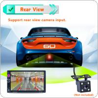 7 Inch 2 DIN Bluetooth Auto Multimedia Car Stereo MP5 Player GPS Navigation AM / FM / RDS Radio Support Mirror Link / Aux In / Rear View Camera