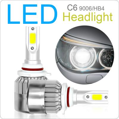 2pcs 9006 / HB4 C6 10800LM  6000K 120W COB LED Car Headlight Kit Light Bulbs