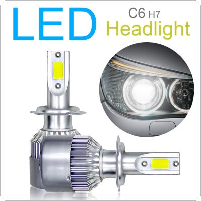 2pcs H7 C6 10800LM  6000K 120W COB LED Car Headlight Kit Light Bulbs