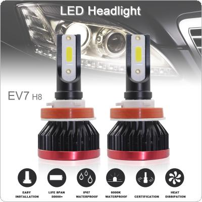 2pcs Super Mini H8 / H9 / H11 120W 20000LM 6500K COB LED Chips Headlight Bulbs Conversion Kit Lamps