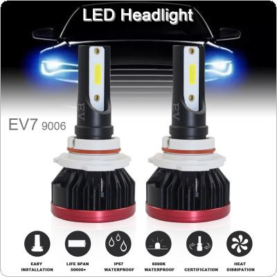 2pcs Super Mini 9006 / HB4 120W 20000LM 6500K COB LED Chips Headlight Bulbs Conversion Kit Lamps
