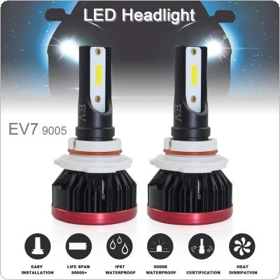 2pcs Super Mini 9005 / H10 / HB3 120W 20000LM 6500K COB LED Chips Headlight Bulbs Conversion Kit Lamps